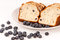 Stock Image : Blueberries and blueberry bread.