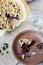 Stock Image : Blueberry crumble