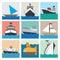Stock Image : Boat icon set  illustration eps10