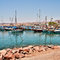 Stock Image : Boats on the shore of the Red Sea
