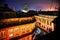 Stock Image : Bodhnath stupa at night