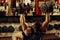 Stock Image : Bodybuilder training gym