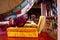 Stock Image : Boeddhistisch gebed binnen klooster