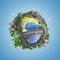 Stock Image : Bolconcept de wereld en de levensstijlen