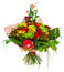 Stock Image : Bouquet of gerberas, roses and chrysanthemums