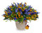 Stock Image : Bouquet of lilies, sunflowers and irises