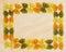 Stock Image : Bow Tie Pasta Border