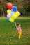 Stock Image : Boy with balloons