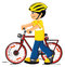 Stock Image : Boy with a bicycle