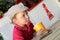 Stock Image : Boy drinking juice