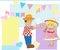 Stock Image : Boy and girl dancing