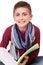 Stock Image : Boy holding a sketchbook