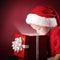 Stock Image : boy open christmas gift-box