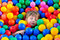 Stock Image : Boy playing with balls.