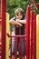 Stock Image : Boy playing outside