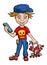 Stock Image : Boy. Vector illustration.