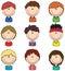 Stock Image : Boys Avatar