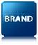 Brand blue square button