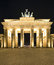 Stock Image : Brandenburger Tor (Brandenburg Gate) panorama, famous landmark in Berlin Germany night