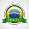 Stock Image : Brazil badge. Vector illustration