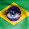 Stock Image : Brazil flag