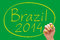 Stock Image : Brazil 2014 Handwriting