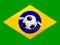 Stock Image : Brazil Soccer Background