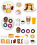 Stock Image : Breakfast Icons