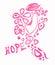 Stock Image : Breast Cancer awareness ribbon