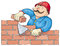 Stock Image : Bricklayer At the Work
