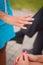 Stock Image : Brides hand