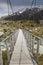 Stock Image : Bridge over Hooker River in Aoraki national park New Zealand