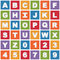 Stock Image : Bright alphabet icons