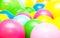 Stock Image : Bright multicolor balloon closeup