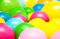 Stock Image : Bright party multicolor balloons