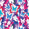 Stock Image : Bright seamless pattern with colorful butterflies