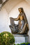 Stock Image : Bronze statue of woman with child, Vaduz
