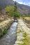 Stock Image : Brook running through old Inca ruins