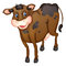 Stock Image : Brown cow