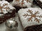 Stock Image : Brownies for christmas