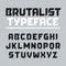 Stock Image : Brutalist typeface