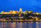 Stock Image : Buda Castle and Danube river at night