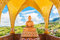 Stock Image : Buddha image and blue sky, Phasornkaew