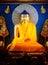 Stock Image : Buddha statue in Mahabodhi Temple.