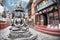 Stock Image : Buddha statue near Kathesimbhu stupa