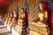 Stock Image : Buddhas in Wat Pho. Bangkok, Thailand.