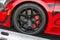 Stock Image : Bugatti Veyron wheels on display