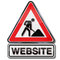 Stock Image : Building a website and under construction