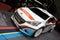 Stock Image : Peugeot 208 T16 Rally Car - Geneva Motor Show 2013
