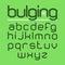 Stock Image : Bulging typeface